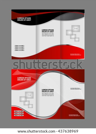 great brochure templates - professional business trifold brochure template flyer