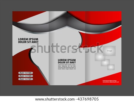 Custom tri-fold brochure template Works great for either the inside or outside of the brochure.  - stock vector