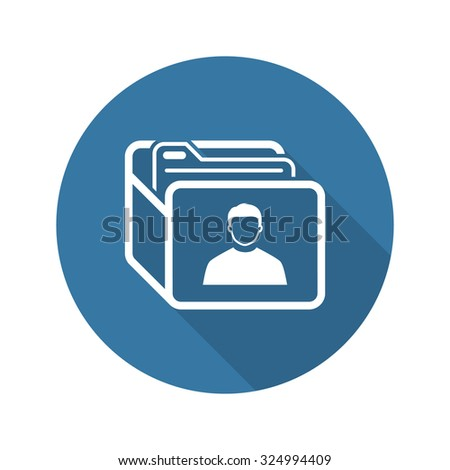 Customer Base Icon. Business Concept. Flat Design. Isolated Illustration. - stock vector