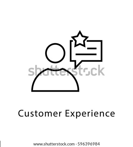 Customer Experience Vector Line Icon