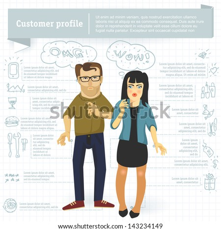 Customer Profile Images RoyaltyFree Images Vectors – Customer Profile