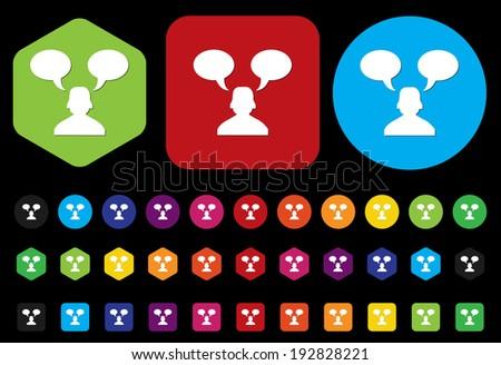 customer service operator with speech bubbles - stock vector