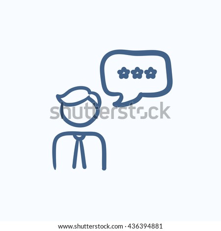 Customer service vector sketch icon isolated on background. Hand drawn Customer service icon. Customer service sketch icon for infographic, website or app. - stock vector