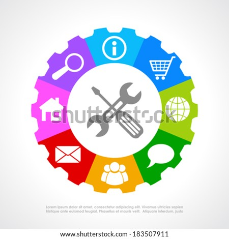 Customers support icon - stock vector