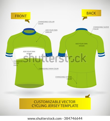 Customizable vector cycling jersey template stock vector 384746644 customizable vector cycling jersey template pronofoot35fo Image collections