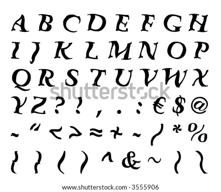 customize alphabet font letters numbers vector stock vector 3555906