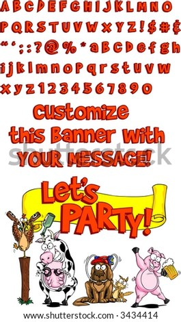 Customize your banner - stock vector