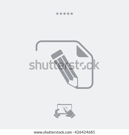 Customized digital project icon - stock vector
