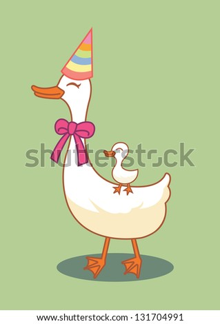 cut duck - stock vector