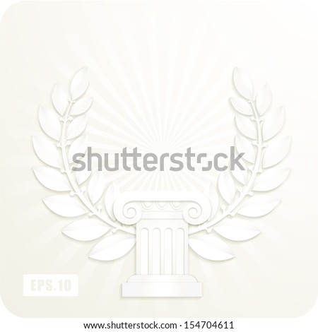 Greek wreath stock images royalty free images vectors for Classic columns paper