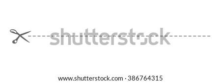 cut line - stock vector