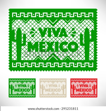 Cut Out Paper - Viva Mexico - stock vector