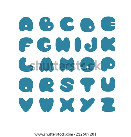 Cut vector alphabet. Silhouettes of letters. Vector illustration.