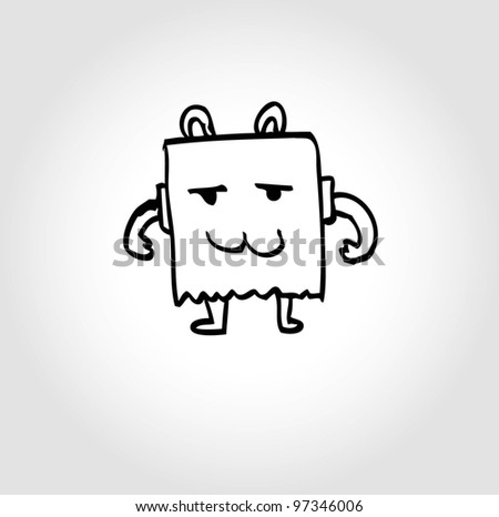 cute alien monster costume - vector illustration - stock vector