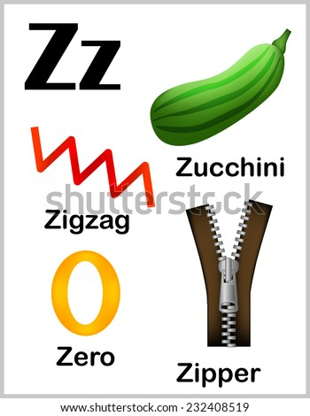letter words starting with z and x