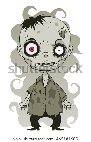 Cute angry zombie