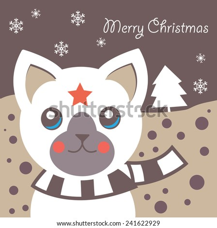 Cute Animal and Christmas Background