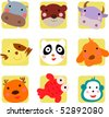 Cute animal icon - stock vector