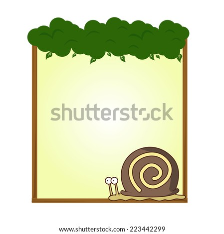 cute animal snails blank sign and symbol vector - stock vector