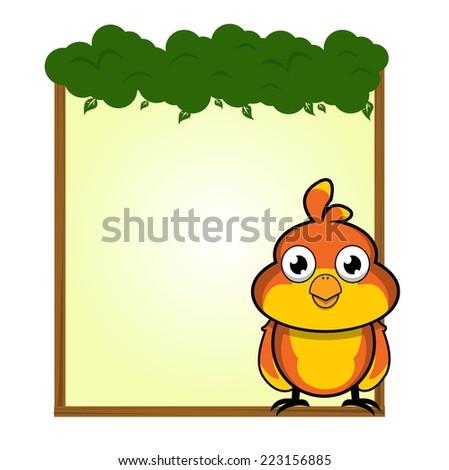 cute animal sparrow bird blank sign and symbol vector - stock vector