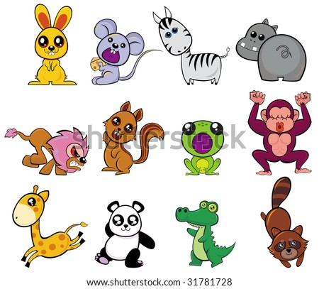 cute animals character pattern design.created by Illustrator cs. - stock vector