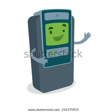 Cute ATM vector drawing