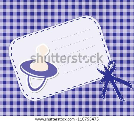 Cute baby arrival card /Vector illustration - stock vector
