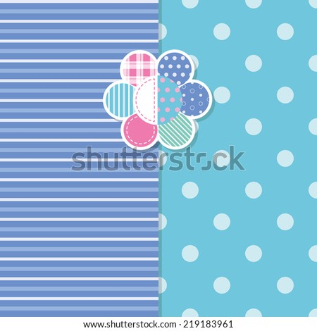 cute baby boy greeting card - stock vector