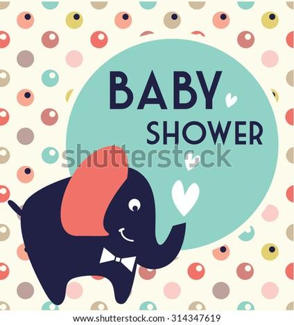 cute baby shower - stock vector