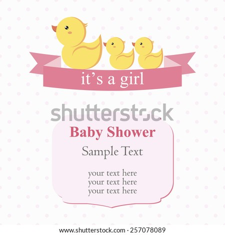 cute baby shower design, duck