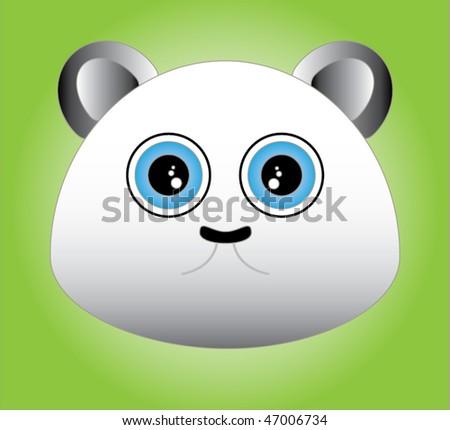 Cute bear - stock vector