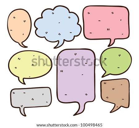 cute bubble speech doodle - stock vector