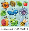 Cute Bugs - stock vector