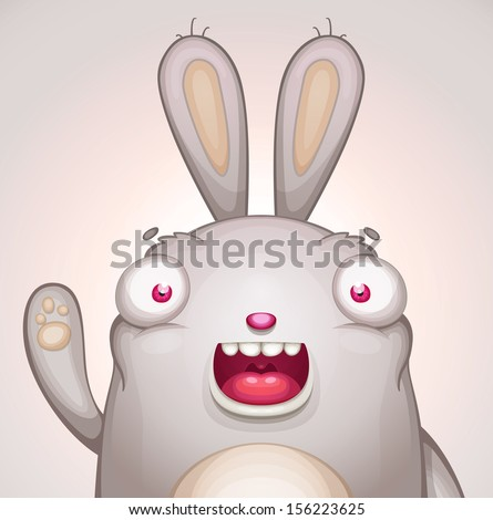 Cute Bunny - stock vector