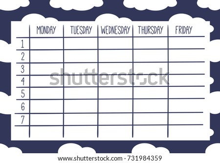 calendar weekly template