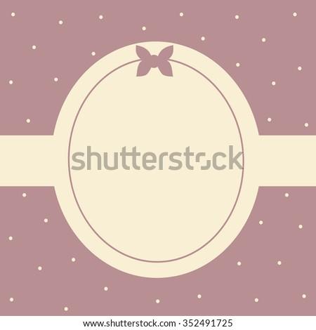 cute card frame vector illustration background - stock vector