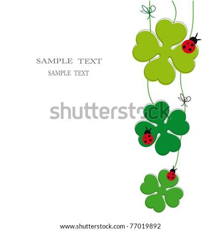 Cute card on festivity occasion - stock vector