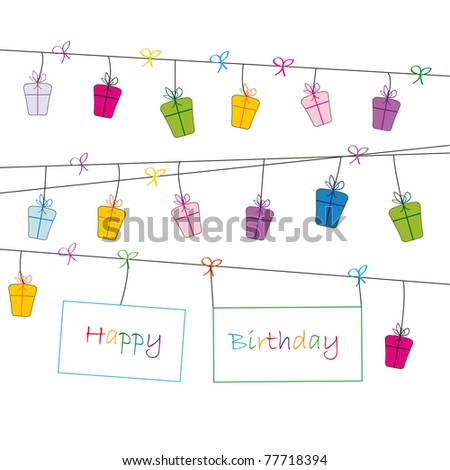Cute card on festivity occasion