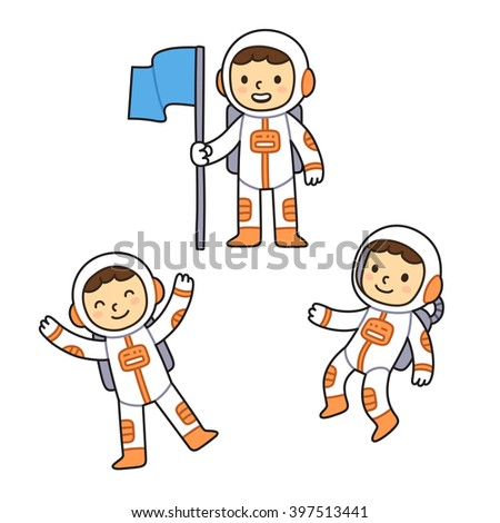 astronaut floating in space cartoon - photo #33