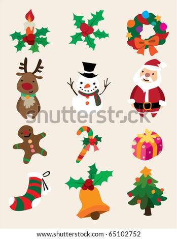 cute cartoon Christmas element - stock vector