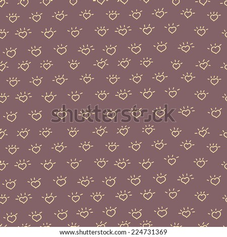 Cute cartoon doodle seamless pattern. Pattern for your design, wallpaper, background, fabric textile. - stock vector