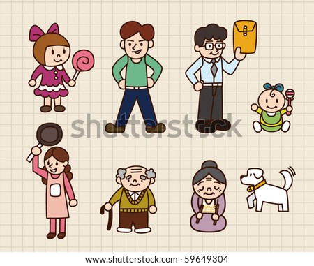 cute cartoon family