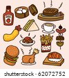 cute cartoon food - stock vector