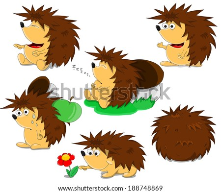 Cute cartoon framework with logs and beaver - stock vector