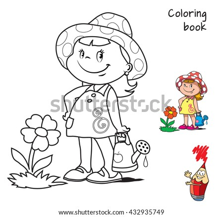 Coloring Book Girl Stock Images, Royalty-Free Images & Vectors ...