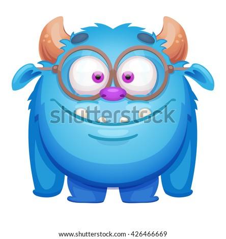 Cute Cartoon Monster - stock vector