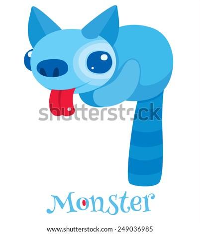 Cute cartoon monsters - vector character - stock vector