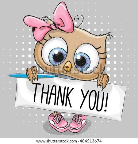 Cute Cartoon Owl Girl Plaque Inscription Stock Vector ...