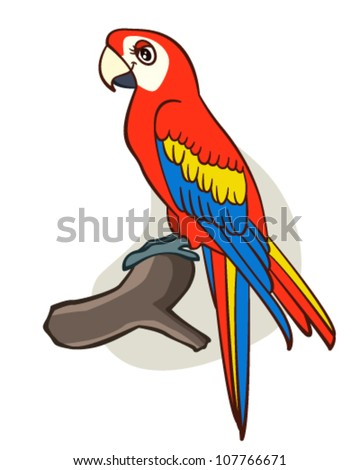 cartoon parrot drawing