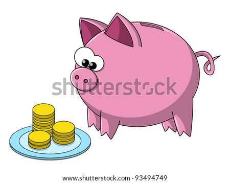 Cute i Like You Cartoons Cute Cartoon Pig Eating Money